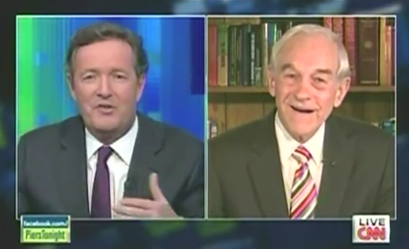 Ron Paul and Piers Morgan