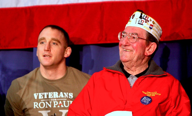 Veterans for Ron Paul March