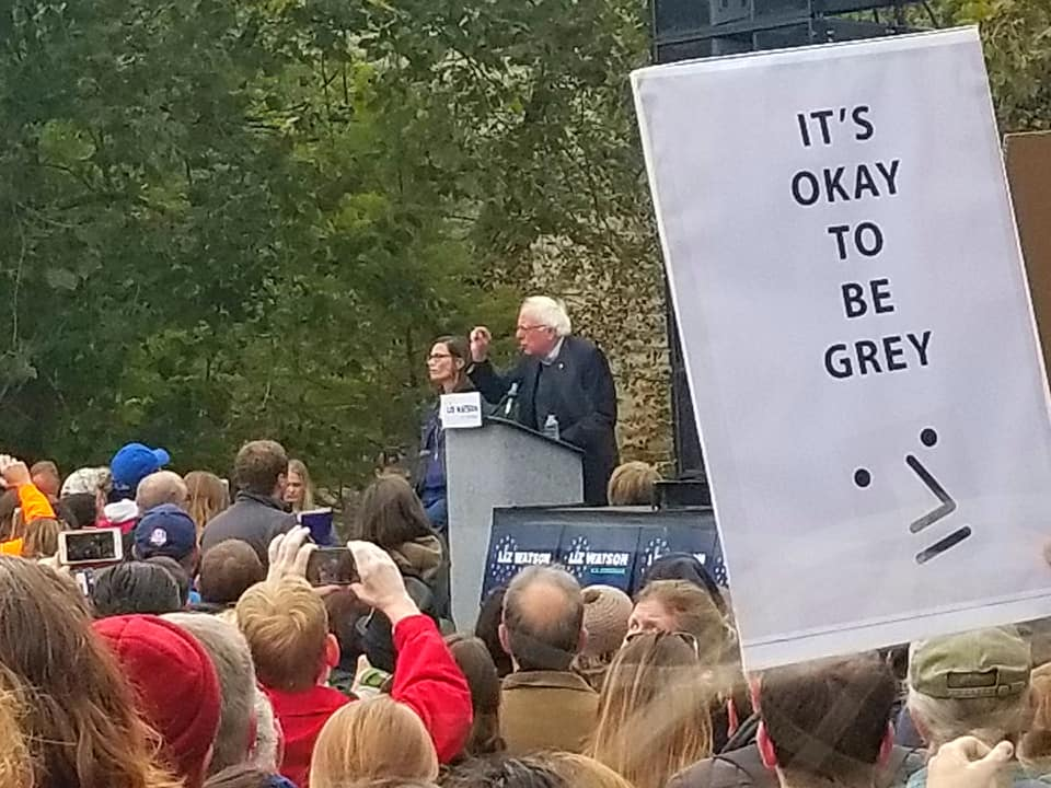 Npc Signs Represent At Bernie Sanders Event Irootsorg